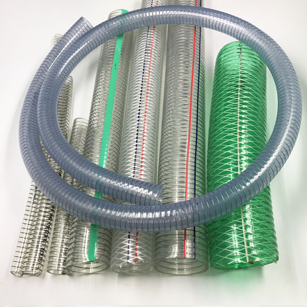 Single Metal Wire : Pvc steel wire hose reinforced water suction